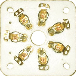 PAIR (2) CERAMIC SOCKETs FOR GM-70 with Golden plate connectors.