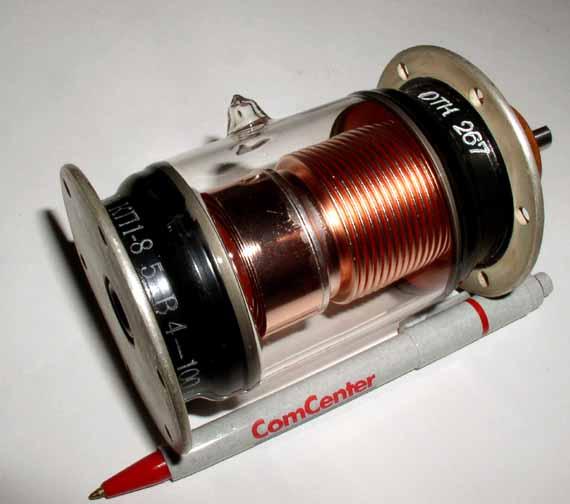 VACCUM VARIABLE CAPACITOR 4-100 pF 5 kV 35 A 30 MHz NOS